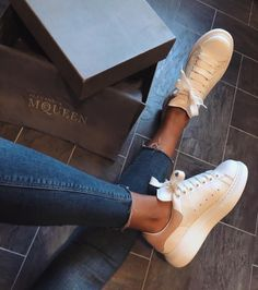 Are you looking for women's sneakers and boots? Sneakers For Girls. Ankle Sneakers, Slip On Sneakers, Leather Sneakers, Alexandre Mcqueen, Alexander Mcqueen Sneakers, Baskets, Sneakers For Sale, Shoes Online, Toddler Girls