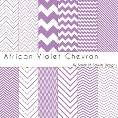 African Violet Chevron Digital Paper Pack by Sarah M Schultz Designs #chevron #digitalpaper #buyhandmade