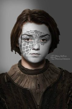 Arya Stark | Game of Thrones War Paint by Hilary Heffron - Hilarious Delusions