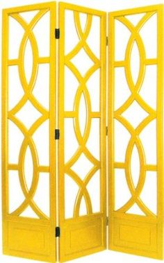 Amazon.com: Charleston Yellow Three Panel Screen: Furniture & Decor