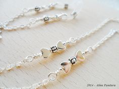 Silver Eyeglass Chain Necklace Eyeglasses Chain by AlinasStudio