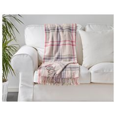 HERMINE Throw Beige/pink 120x180 cm - IKEA