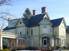 Sharing the architectural beauty of my newest town....  Main Street is so amazing -- no two homes look alike on Main Street.