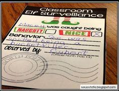 Seusstastic Classroom Inspirations: So many fun elf on the shelf ideas! I love the elf note