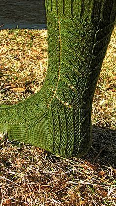 Ravelry: Treebeard Socks pattern by Claire Ellen  I just finished this pattern for my sock swap partner in Belgium. Great pattern.