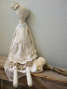 French Style Rag Doll  Handmade Rag Doll  by VintageMarketPlace, $80.00