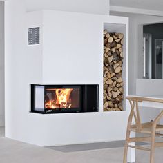S&D replace old fireplace in family rm with Nordpeis_panama.check this modular insert for fireplace. Fireplace Hearth, Home Fireplace, Modern Fireplace, Living Room With Fireplace, Fireplace Design, Fireplaces, Interior Architecture, Interior Design, Condo Living