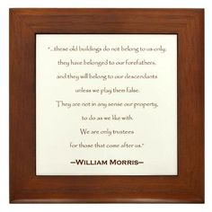 these old buildings...historic preservation quote $15.00