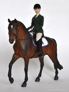 Braymere Custom Saddlery: 1:9 scale hunter seat equitation: doll basics