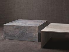 Mesa de centro baixa de mármore TERRAE by Flou | design Pinuccio Borgonovo