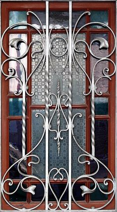 Steel furniture wrought iron design 28 new ideas Home Window Grill Design, Window Grill Design Modern, House Window Design, Grill Door Design, Iron Windows, Iron Doors, Iron Furniture, Steel Furniture, Iron Gate Design