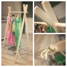 Kledingrek Kinderkamer gemaakt #diy # clothing rack