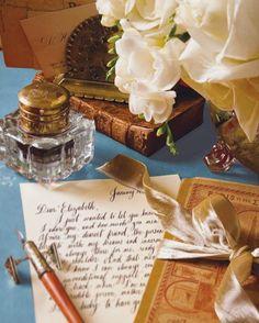Handwritten letters- a lost art Victoria Magazine, Old Letters, Handwritten Letters, Penmanship, Calligraphy Handwriting, Lost Art, Letter Writing, Wax Seals, Envelopes