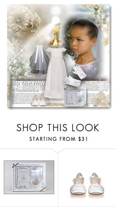 """""""My First Holy Communion"""" by angelflair ❤ liked on Polyvore featuring Precious Moments and Rainbow Club"""