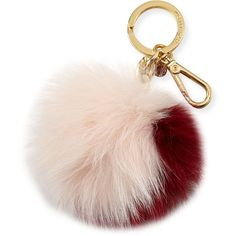 MICHAEL Michael Kors Extra-Large Fox Fur Pom Pom Purse Charm ($51) ❤ liked on Polyvore featuring accessories and michael michael kors