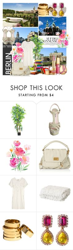 """""""Berlin"""" by parthenope ❤ liked on Polyvore featuring Nearly Natural, Miu Miu, Marc by Marc Jacobs, Lanvin, H&M and Chanel"""
