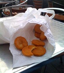 Panisses marseillaises. A Marseillaises fritter made with chickpea flour, water, salt, and oil