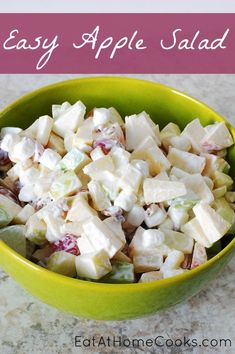 Easy Apple Salad, Delicious Sweet Salad Recipe!