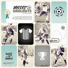Becky Higgins Digital Project Life | Soccer Theme Pack by Jenn McCabe