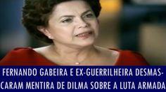 """A LUTA ARMADA NO BRASIL NUNCA LUTOU À FAVOR DA DEMOCRACIA. NENHUM DELES. DILMA MENTE. OUÇAM. """"Fernando Gabeira e ex-guerrilheira desmascaram mentira de Dilma sobre a luta armada"""" Fernando Gabeira e ex-guerrilheira desmascaram mentira de Dilma sobre a ..."""