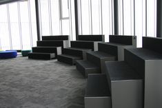 Beatbox is an auditorium-like piece of furniture for working and learning environments. Beatbox designed by Iiro Viljanen he. Learning Spaces, Learning Environments, Material Library, Lounge, School Furniture, Soft Seating, Classroom Design, Auditorium, Canteen