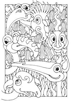 Smashwords – Birds, Butterflies, Bags and Dragons - A book by Dandi Palmer - page 4 Colouring Pics, Animal Coloring Pages, Coloring Book Pages, Coloring Sheets, Drawing Sheet, Amazing Drawings, Rock Design, Picture Design, Art Pages