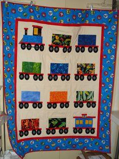 Train quilt inspiration.