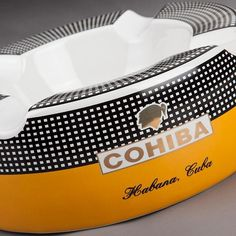 COHIBA Gadget Noble Ceramic Cigar Ashtray with 4 Rests - Richard Cutters - Cigar Accessories Cohiba Cigars, Cigar Holder, Cigar Tube, Cigar Ashtray, Premium Cigars, Cigar Accessories, Pipes And Cigars, Gym Bag, Black And Grey