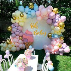 Happy Birthday Balloons, Happy Birthday Parties, Birthday Party Decorations, Baby Shower Decorations, Diy Rainbow Birthday Party, Pastel Party Decorations, Birthday Themes For Adults, Birthday Celebrations, Wedding Decorations