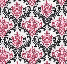 Damask Curtain Panels Fuchsia Hot Pink Black And White Damask Drapery  Window Treatments Set SALE On