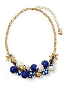 Piperlime | Polka Dot Cluster Necklace