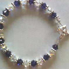 Purple/silver crystal...beautiful colors!! Plenty of sparkle!! Custom orders always taken... BDFCreationz.etsy.com