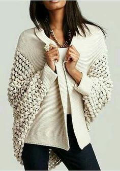 Ivory sweater and great texture