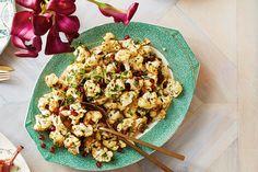 Warm Roasted Cauliflower Salad With Garlicky Tahini Dressing