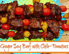 Ginger Soy Beef with Chile-Tomatoes