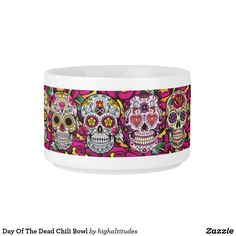 Day Of The Dead Chili Bowl