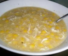 """Easy and delicious chicken and sweet corn soup.  Super easy...or maybe """"souper"""" easy!"""
