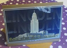Lincoln Nebraska - Nebraska Capitol Building - Blank Greeting Card - Moore Inspired Design by mooreinspireddesign on Etsy