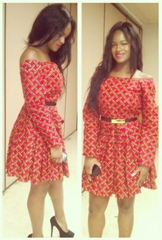African Dresses Ankara Short Gown Style - DeZango Fashion Zone