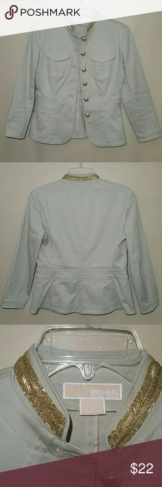 Michael Kors Blazer This blazer only worn once and is in great condition. No stains, rips or tears. Made of 97% cotton. 3% lycra. Michael Kors Jackets & Coats Blazers