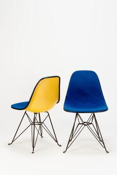Eames Side Chairs DSR Eiffel Base