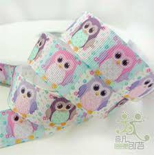 #Grosgrain #Ribbon 7/8 Colorful Cute #Owls by GabbysQuiltsNSupply