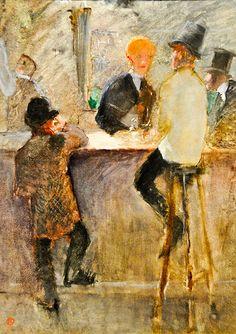 Henri De Toulouse-Lautrec - At the Bar, 1886 at the Virginia Museum of Fine Arts (VMFA) Richmond VA