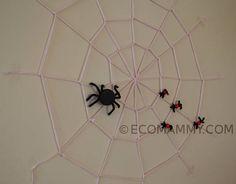 украшение комнаты на Хэллоуин: паутина своими руками