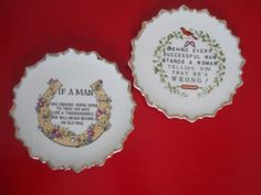 SALE  Fun Pair of Gilded Decorative Plates by PlayfullyVintage,