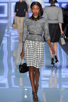 Nyasha Matonhodze - On the runway for Christian Dior S/S 2012.