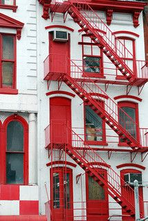 Fire Escape Stairs, Canal Street, New York City. Inspiration for #red #gems