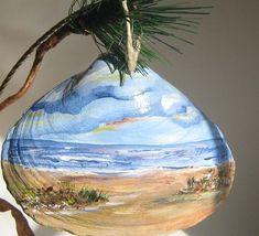Painted Seashell Ornaments | Holiday Art Hand Painted Seashell Ornament by 1022SeaShellAve