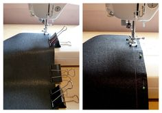 Finishing Faux Leather Seams.