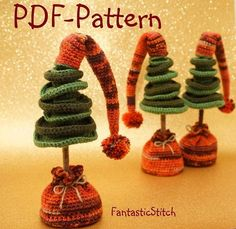Such crochet Christmas tree as Amigurumi make for a great present, and they also can be used for decorating your home.♥ This is a PDF CROCHET PATTERN and NOT the finished toy ♥♥ Crochet skill level: Easy♥ This pattern with 13 pages is written in English (using US crochet terms). It contains many step-by-step pictures and a detailed description. The Pattern include also a description of candle and star.♥ I have used : - Crochet hook Size 3 mm - Polyacrylicyarn (dark green, lime, brown)…